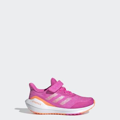 Kids 4-8 Years Running Pink EQ21 Run Shoes