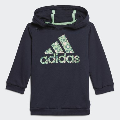 Kinder Training Hoodie-Set Blau