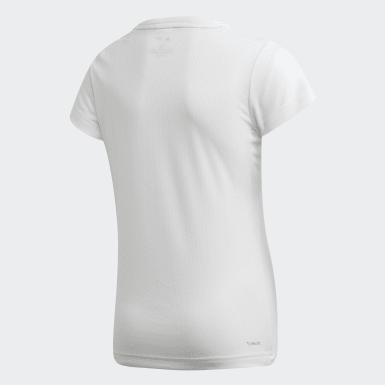 Girls Yoga White Parley T-Shirt