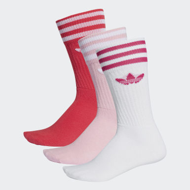 Originals Pink Crew sokker, 3 par