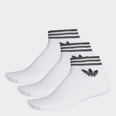 Originals White Trefoil Ankle Socks 3 Pairs