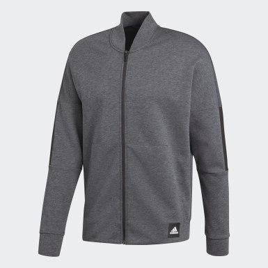 Men Athletics Grey ID Bomber Jacket