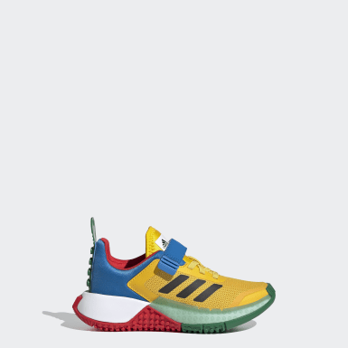 Children Running Yellow adidas x LEGO® Sport Shoes