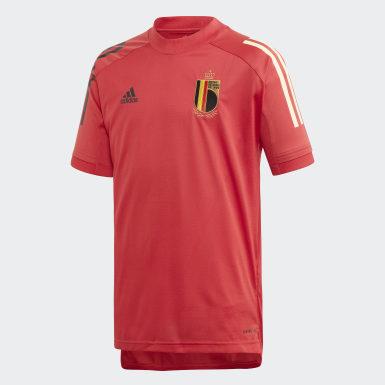 Børn Fodbold Rød Belgium træningstrøje