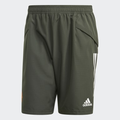 Men Football Green Manchester United Downtime Shorts
