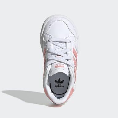 Mädchen Originals Team Court Schuh Weiß