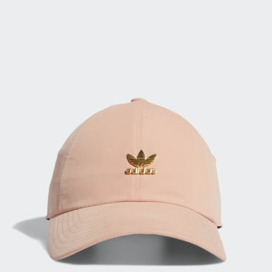 Women's Originals Pink Relaxed Metal Strap-Back Hat