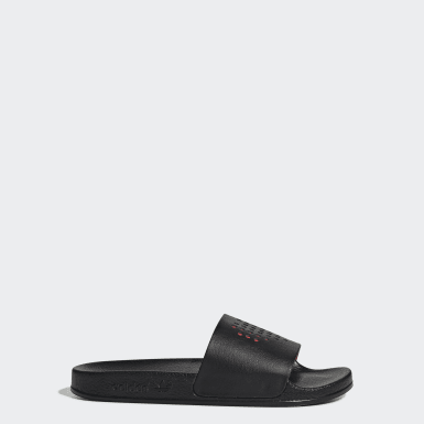 Claquette Adilette noir Adolescents Originals