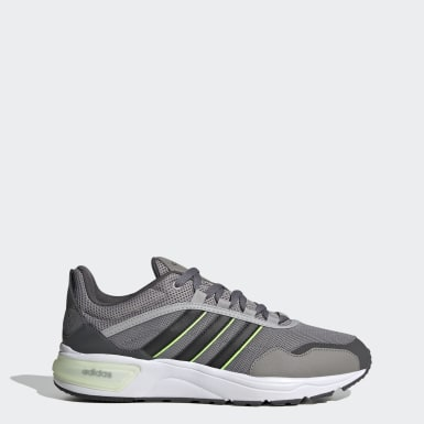 Men Sport Inspired Grey 90s Runner Shoes
