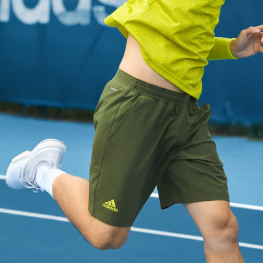 Mænd Tennis Grøn Tennis Ergo Primeblue shorts, 23 cm