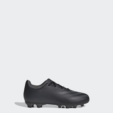 Boys Football Black X Ghosted.4 Flexible Ground Boots
