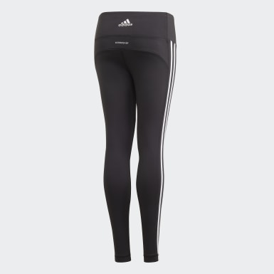 Youth 8-16 Years Studio Black Believe This 3-Stripes Leggings