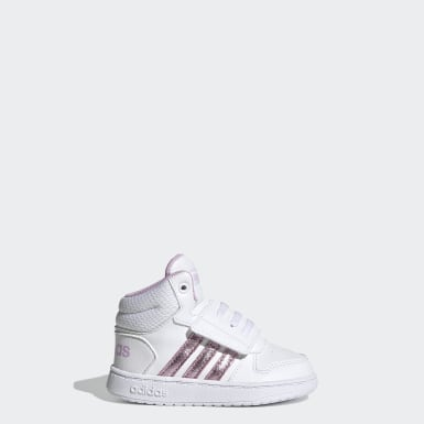 Infant & Toddler Essentials White Hoops 2.0 Shoes