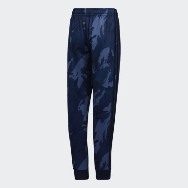 Youth Training Blue Core Camo Joggers