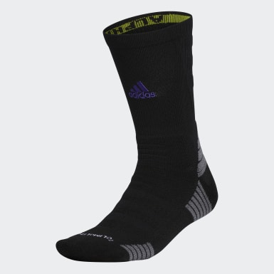 Running Black Alphaskin Max Cushioned Crew Socks