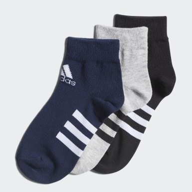 Kids Training Grey Ankle Socks 3 Pairs