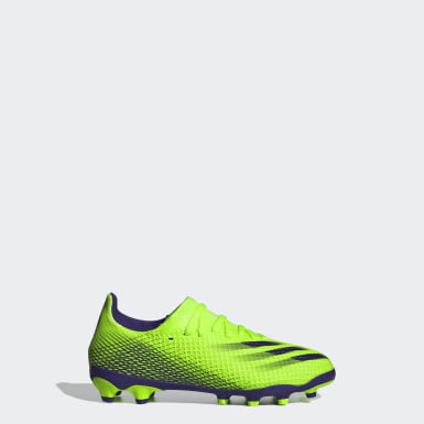 Chaussure X Ghosted.3 Multi-surfaces Vert Enfants Football