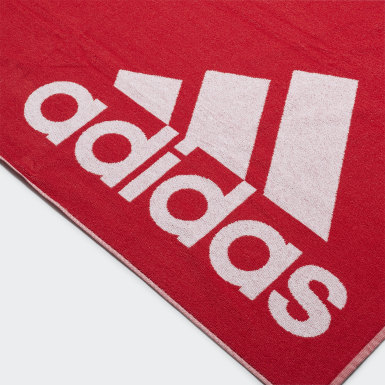 Svømning Rød adidas håndklæde, stort