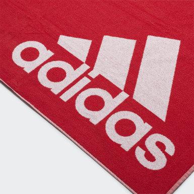 Asciugamano adidas grande Rosso Nuoto