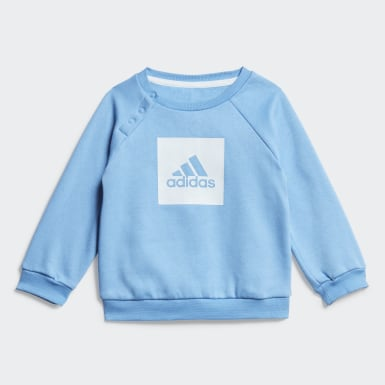 Infants Training Blue 3-Stripes Fleece Jogger Set