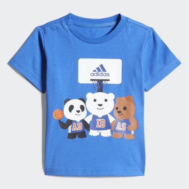 Infants Training Blue Tee and Pants Set