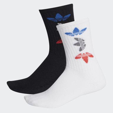 Adicolor Large Trefoil Crew Socken, 2 Paar