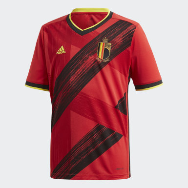 Boys Fodbold Rød Belgium hjemmebanetrøje
