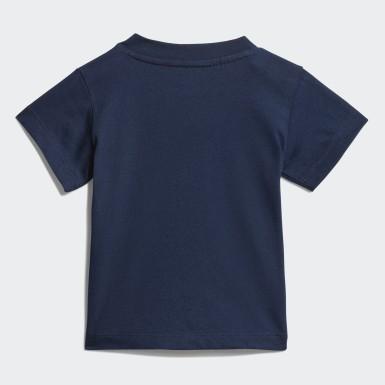 T-shirt Trefoil Azul Criança Originals