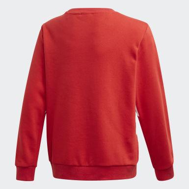 Kids Originals Red Big Trefoil Crew Sweatshirt