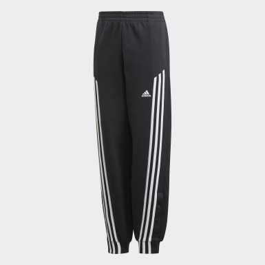 Youth Training Black Snap Pants