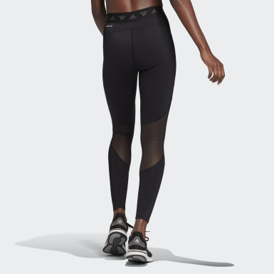 Women Training Black Mesh Tights