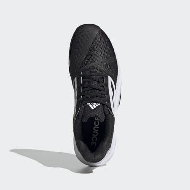 Men Tennis Black CourtJam Bounce Clay Tennis Shoes