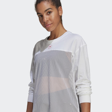 Ženy adidas by Stella McCartney biela Top adidas by Stella McCartney Mesh
