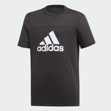 Boys Training Black Equipment Tee
