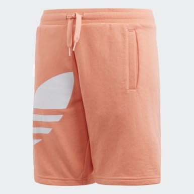 Youth Originals Orange Big Trefoil Shorts