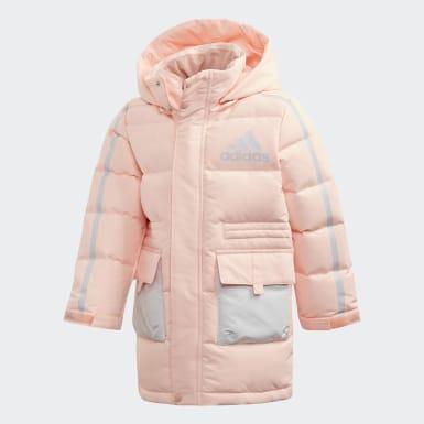 розовый Парка-пуховик