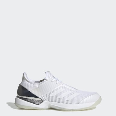 Women's Tennis White Ubersonic 3 Hard Court Shoes