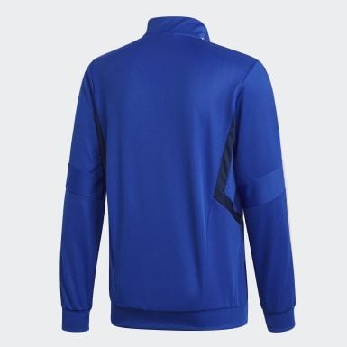 Men Soccer Blue Tiro 19 Training Jacket
