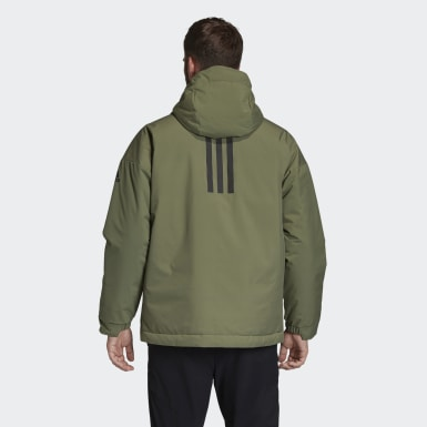 Men City Outdoor Green Urban Insulated Winter Jacket