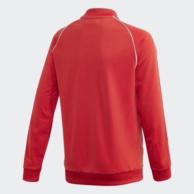 Track Jacket SST Rosso Bambini Originals