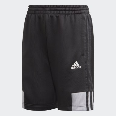 Boys Training Black Must Haves AEROREADY 3-Stripes Shorts