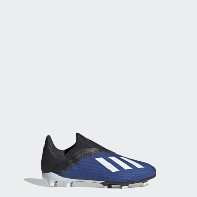 Barn Fotboll Blå X 19.3 Firm Ground Boots