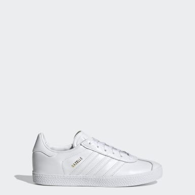 Youth 8-16 Years Originals White Gazelle Shoes