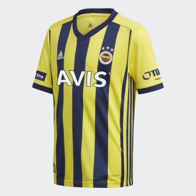 Maillot Domicile Fenerbahçe SK 20/21 Jaune Enfants Football