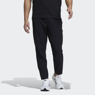 Men Athletics Black Woven Function Pants