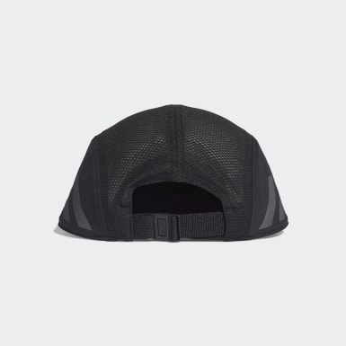 Running Black AEROREADY 3-Stripes Reflective 5-Panel Running Cap
