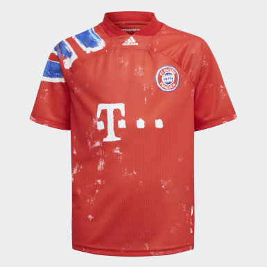 Kids Football Red FC Bayern Human Race Jersey