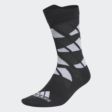 Ultralight Allover Graphic Crew Performance Socks Czerń