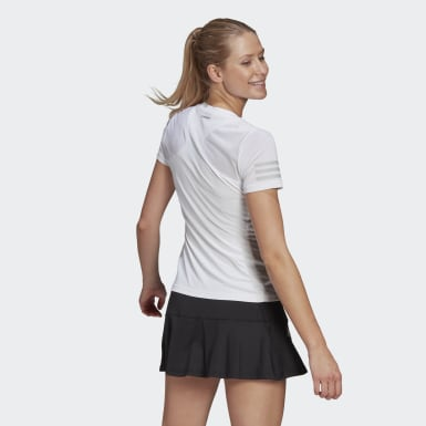 Dames Tennis Wit Club Tennis T-shirt