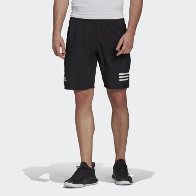 Men Tennis Black Club Tennis 3-Stripes Shorts